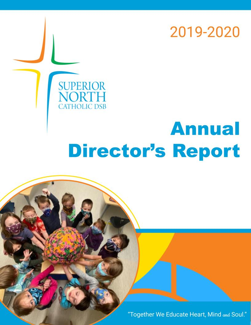 Cover image of Annual Directors Report 2019-2020