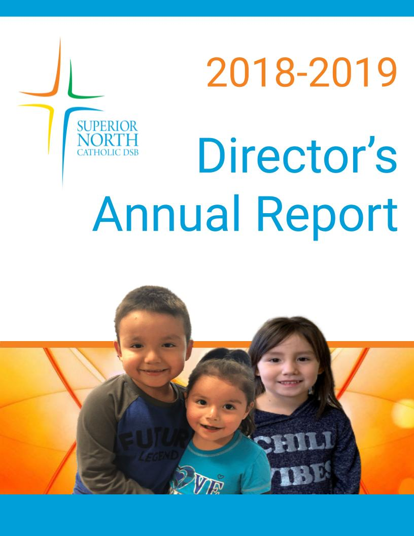 Cover of 2018-2019 Annual Director Report