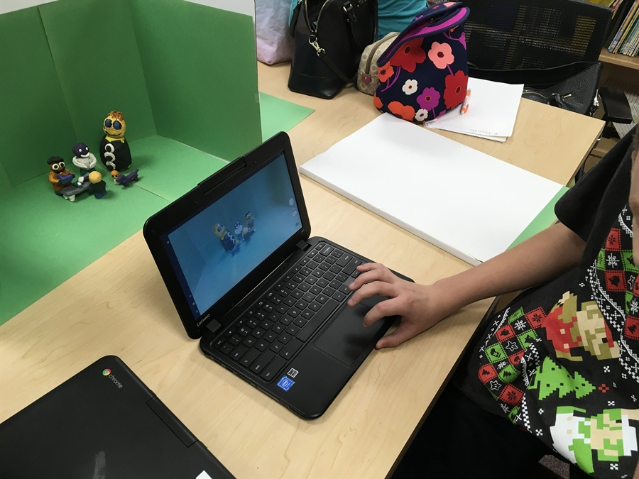 Student working on Chromebook